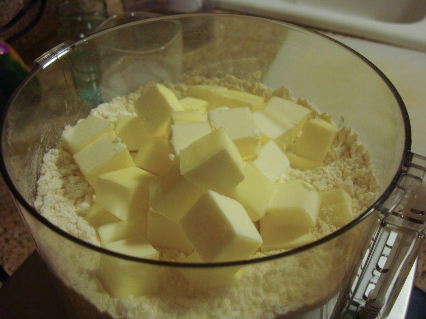 Flour, Sugar, Salt, COLD Butter